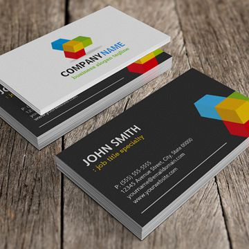"Business Cards:  2"" x 3.5"" UV coating 14pt 2-Sided print"