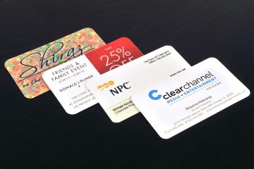 "Business Cards 2"" x 3.5"" UV coating 16pt 1 sided print"