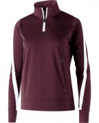 Holloway Ladies' Polyester ¼ Zip Determination Pullover