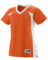 Augusta Girls Polyester Mesh V-Neck Short-Sleeve Jersey