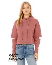 Bella + Canvas FWD Fashion Ladies' Cut Out Hooded Fleece