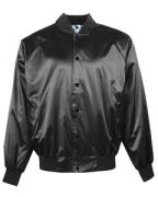 Augusta Adult Satin Baseball Jacket with Solid Trim