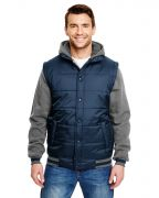 Burnside Adult Fleece Sleeeved Puffer Vest