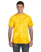 Adult 5.4-ounce., 100% Cotton Tie-Dyed T-Shirt - Spider