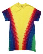 Adult Rainbow Pattern Tie-Dyed Tee