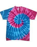 Adult 5.4-ounce., 100% Cotton Islands Tie-Dyed T-Shirt