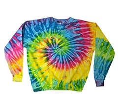 Tie-Dye Adult 8.5-ounce., 80/20 crew neck fleece