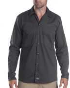Dickies 6-ounce. Industrial Long-Sleeve Cotton Work Shirt