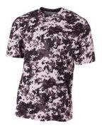A4 Youth Camo Performance Crew T-Shirt