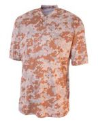 A4 Youth Camo 2-Button Henley Shirt