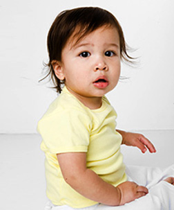 American Apparel Organic Infant Short Sleeve Lap Tee