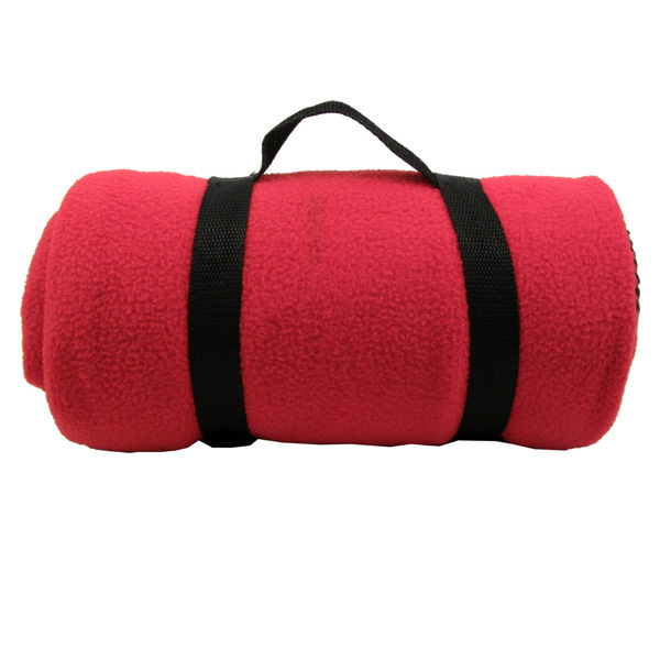 Fleece Blanket with Nylon Strap