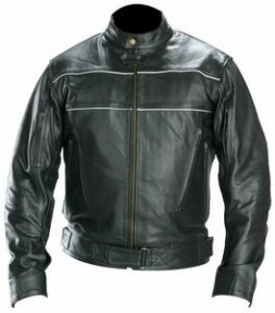 Men's Phantom Speedster Black Leather Motorcycle Jacket