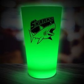 16 Oz. Green Neon Look Pint Glass
