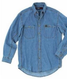 Wrangler® RIGGS Workwear® Long Sleeve Denim Work Shirt