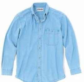 Wrangler® Rugged Wear® Men's Denim Basic Shirt