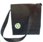 "Recycled P.E.T. Canvas Messenger Bag -- 13"" x 13"" x 4"""