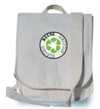 "Recycled Cotton Canvas Sport Messenger Bag -- 11.5"" x 14"" x 3.5"""