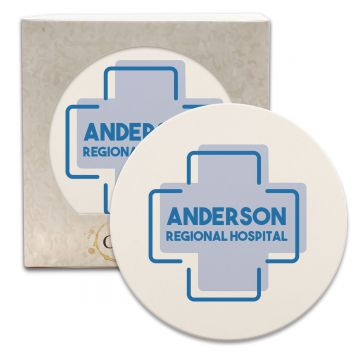 "CoasterStone Round Absorbent Stone Coaster - Single (4.25"")"