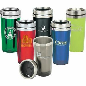 16 Oz. Double Walled Tumbler w/ Metal Lid