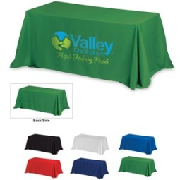 8' 4-Sided Throw Style Table Cloth & Cover (Screen Print)