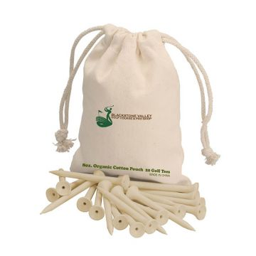 Biodegradable Golf Tees w/ Cotton Sack