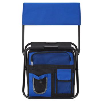 24 Can Folding Cooler Chair w/ Backrest