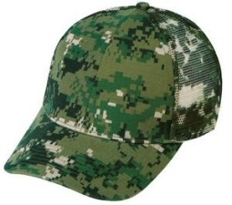 Digital Camo 6 Panel Cap w/ Mesh Back