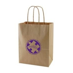 "Natural Kraft Shopping Bag (8"" x 4.75"" x 10.5"")"