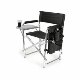 Sports Chair Portable Folding Chair w/ Integrated Side Table