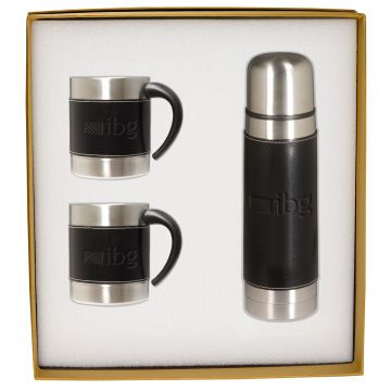 Leeman™ Empire™ Coffee Cup and Thermos Gift Set