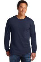 Gildan® - Ultra Cotton® 100% Cotton Long Sleeve T-Shirt with Pocket