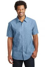 District Made® Mens Short Sleeve Washed Woven Shirt