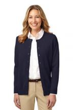 Port Authority® Ladies Value Jewel-Neck Cardigan Sweater