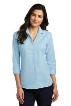 Port Authority® Ladies 3/4-Sleeve Micro Tattersall Easy Care Shirt