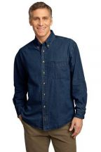 Port & Company® - Long Sleeve Value Denim Shirt