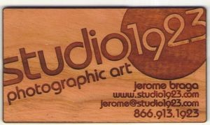 Engraved Wooden Business Cards - Made in USA