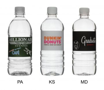 20 Oz. Custom Label Bottled Water